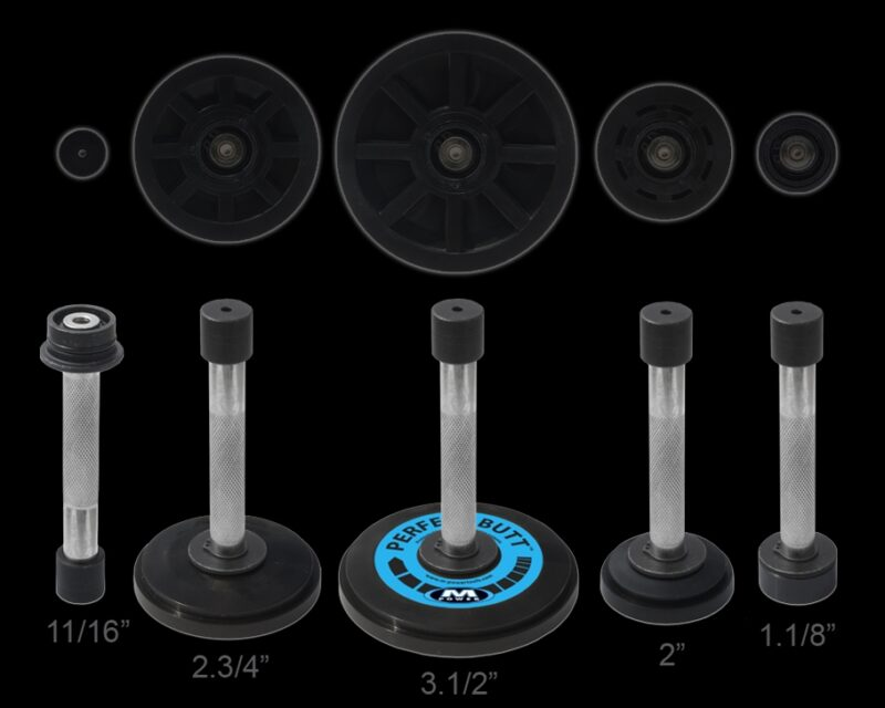 5 different wheel sizes